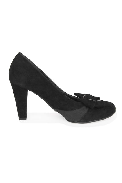 Casa Couture Elizabeth Black Suede Sample