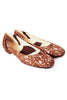 Casa Couture Sofia Brown Lace Flats