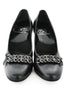 Casa Couture Victoria Black Leather Heels