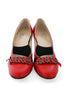 Casa Couture Victoria Red Leather Heels