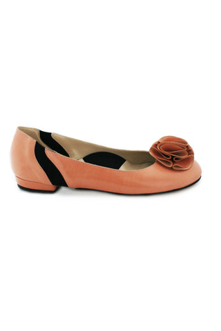 Casa Couture Charlotte Pink Leather Flats