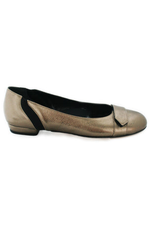 Casa Couture Carolyn Gold Leather Flats