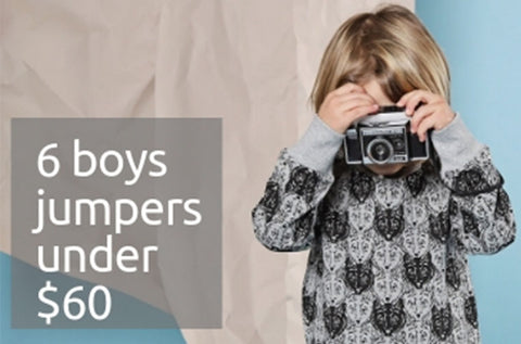 6 Boys winter jumpers under $60