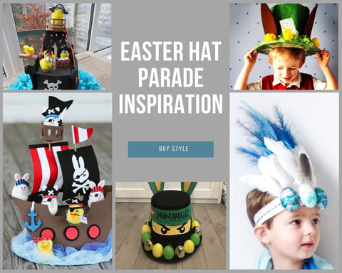 Boys Easter Hat Parade