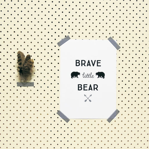Brave Little Bear Interior Poster - Little Gents Store