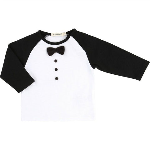 Billybandit T-shirt White Black - Little Gents Store