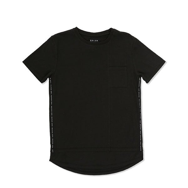 Indie Kids Roler Side Tee Black - Little Gents Store
