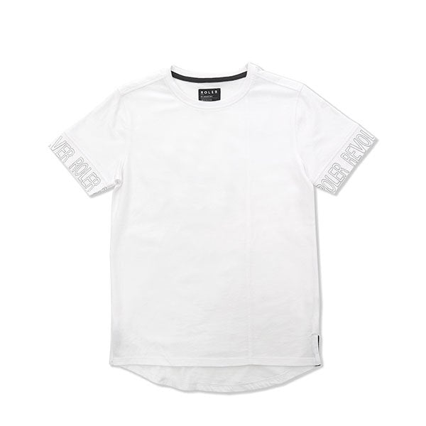 Indie Kids Roler Sleeve Tee White - Little Gents Store
