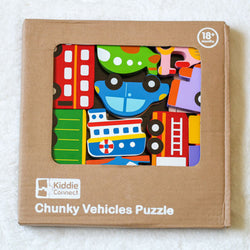 Kiddie Connect Vehicle Chunky Puzzle package
