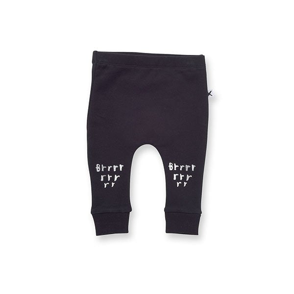 Minti Brr Furry Trackies Black - Little Gents Store