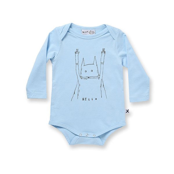 Minti Hello Hero Onesie - Little Gents Store