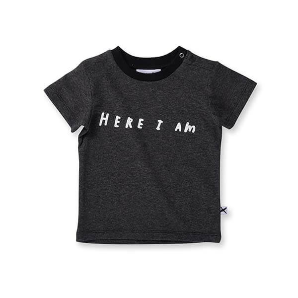 Minti Here I Am Tee Black - Little Gents Store