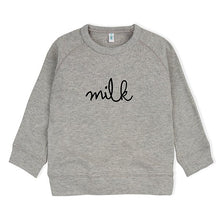 Organic Zoo Grey MILK Sweatshirt - Little Gents Store