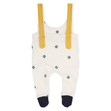 Organic Zoo Dots Salopette with Contrast Feet - Little Gents Store