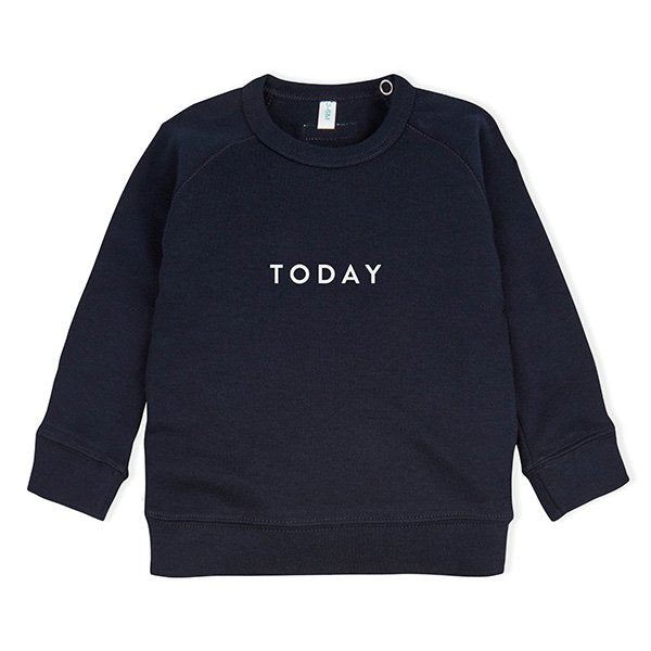Organic Zoo Navy TODAY Sweatshirt - Little Gents Store