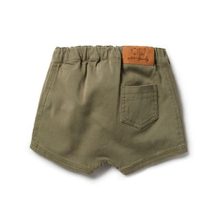 Wilson & Frenchy Fern Green Slouch Shorts back view