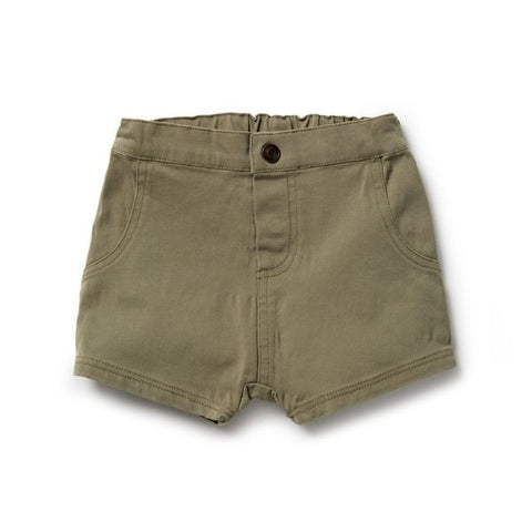 Wilson & Frenchy Fern Green Slouch Shorts