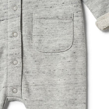 Wilson and Frenchy Grey Fleck Terry Growsuit - Little Gents Store
