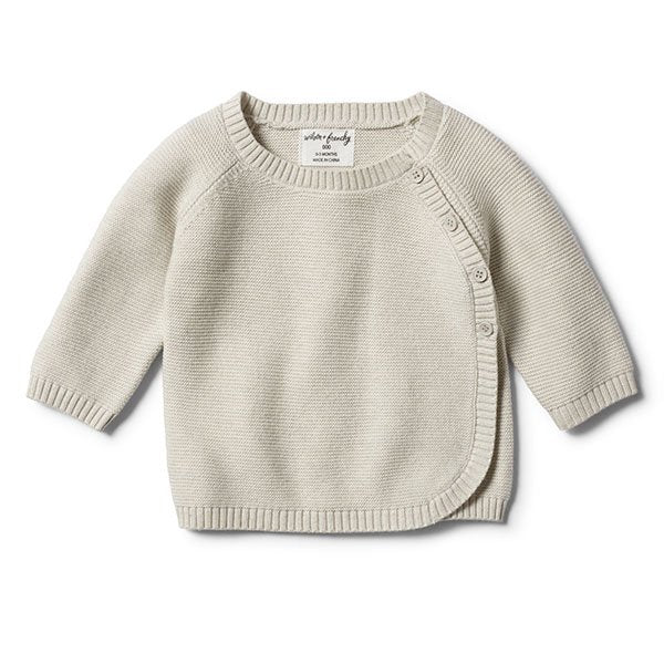 Wilson and Frenchy Ice Grey Kimono Knitted Cardigan - Little Gents Store