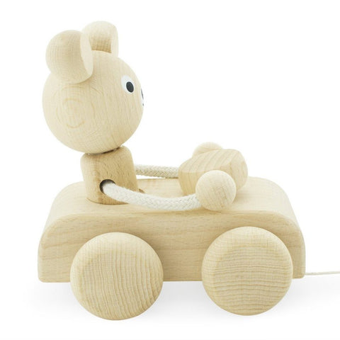 Teddy - Wooden Pull Along Bear - Little Gents Store