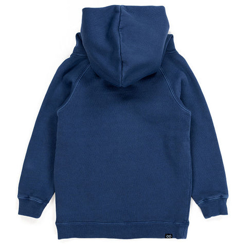 Alphabet Soup Heritage Hoodie Navy back