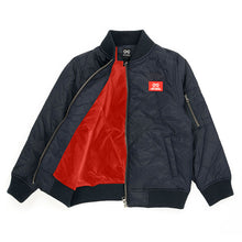 Alphabet Soup Quilted Bomber Jacket lining