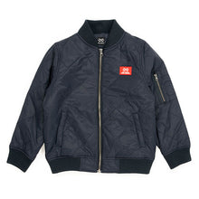 Alphabet Soup Quilted Bomber Jacket