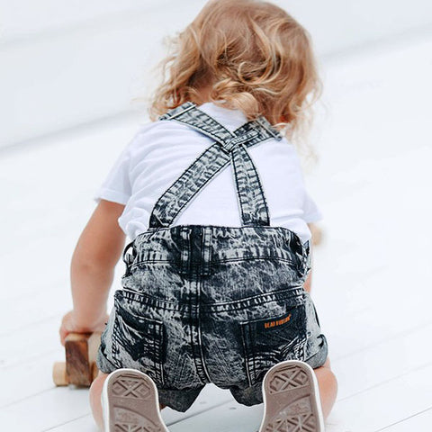 back view Beau Hudson Black Denim Overalls