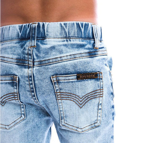 close up of Beau Hudson Denim Jeg Jeans
