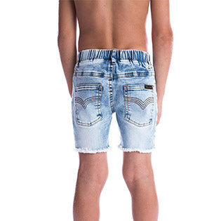 Beau Hudson Blue Denim Jeg Shorts back