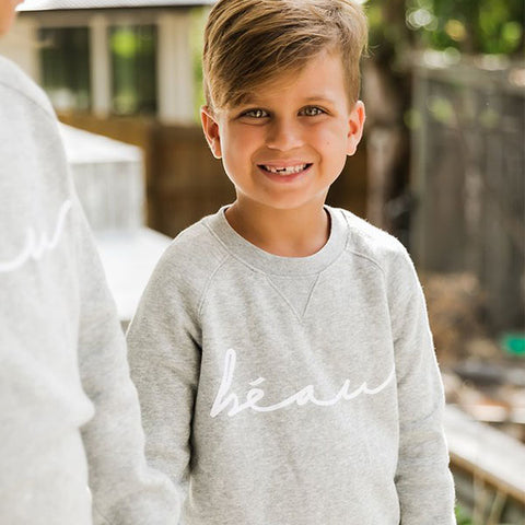 close up Beau Hudson Crew Neck Sweater