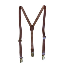 Beau Hudson Faux Leather Suspenders
