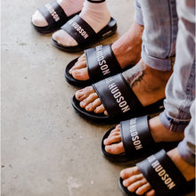 boys wearing Beau Hudson Slides