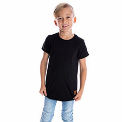 Beau Hudson Raw Edge Black Tee front