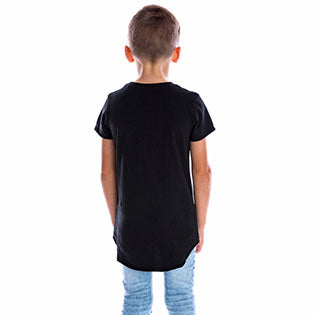 Beau Hudson Raw Edge Black Tee back