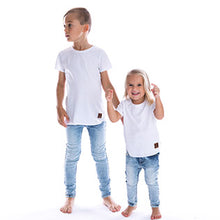 Beau Hudson Raw Edge White Tee kids