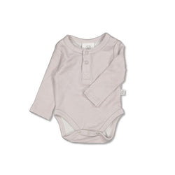 Burrow & Be Henley Merino Bodysuit (Pebble)