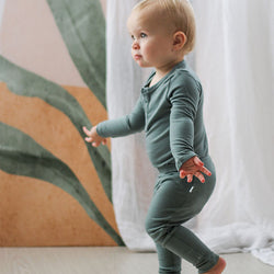baby boy Burrow & Be Merino Bamboo Legging (Storm)