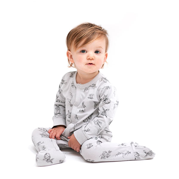 Burrow & Be Essentials Sleepsuit Grey Burrowers