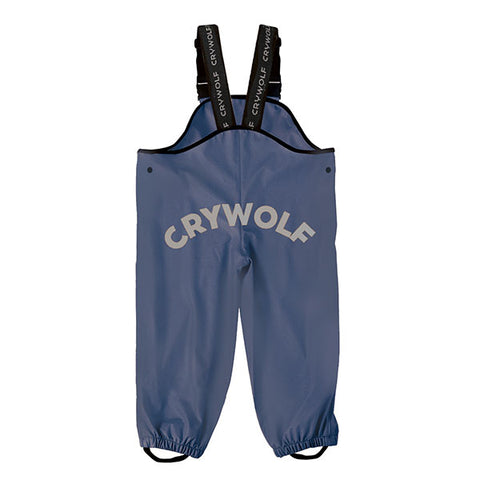 back view Crywolf Play Rain Overalls Indigo