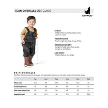 Crywolf overall size guide