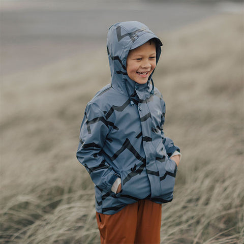 boy wearing Crywolf Play Jacket Mountain Wolf