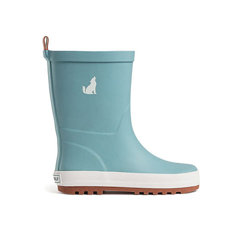 side view Crywolf Rain Boots Misty Blue