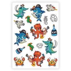 Ducky Street Sea Pirates temporary tattoos