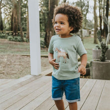 Boy wearing Fox & Finch Denim Shorts
