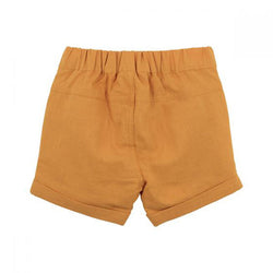 Fox & Finch Rahh Yellow Woven Shorts back