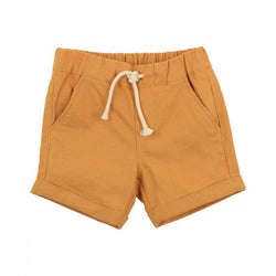 Fox & Finch Rahh Yellow Woven Shorts