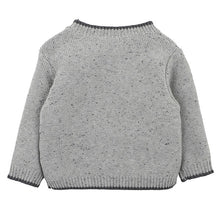 Fox & Finch Boys Cable Jumper (Grey) back