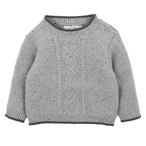 Fox & Finch Boys Cable Jumper (Grey)