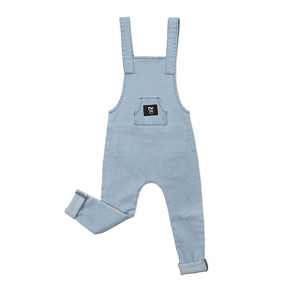 Kapow Kids Stretch Denim Overalls - Blue - Little Gents Store